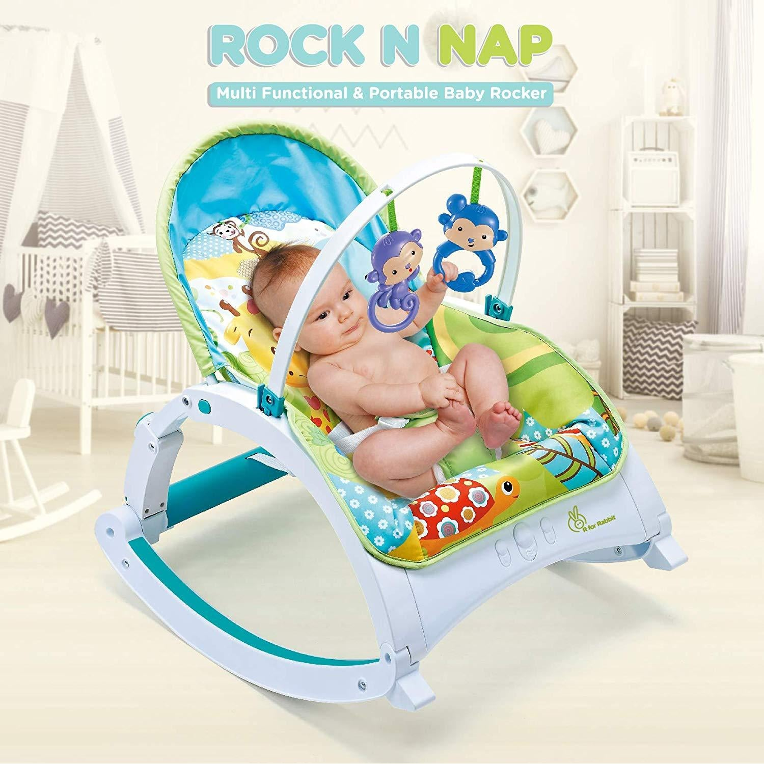 R for Rabbit Rock N Nap Baby Rocker Musical Rockers for Babies