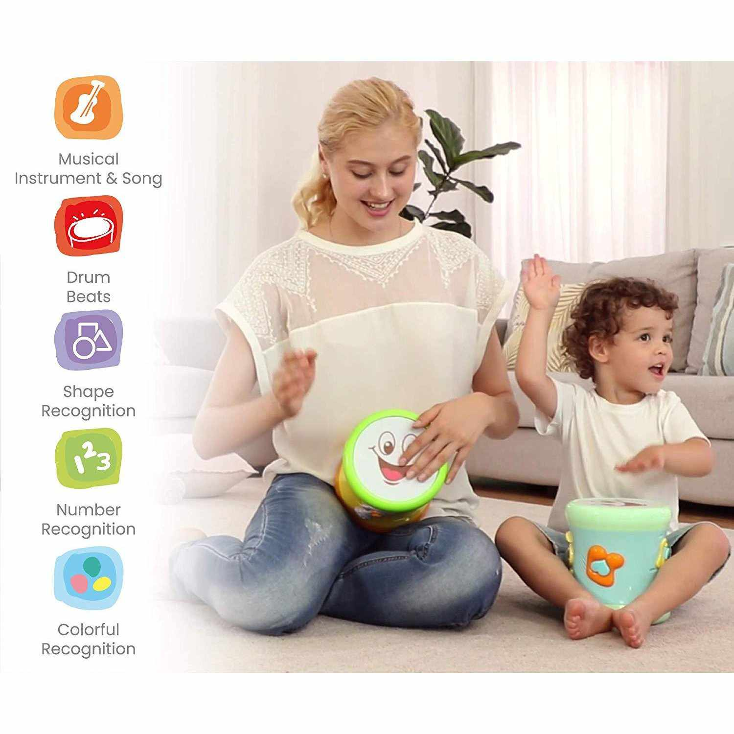 Orapple Toys Musical Learning Drum Toy For Kids