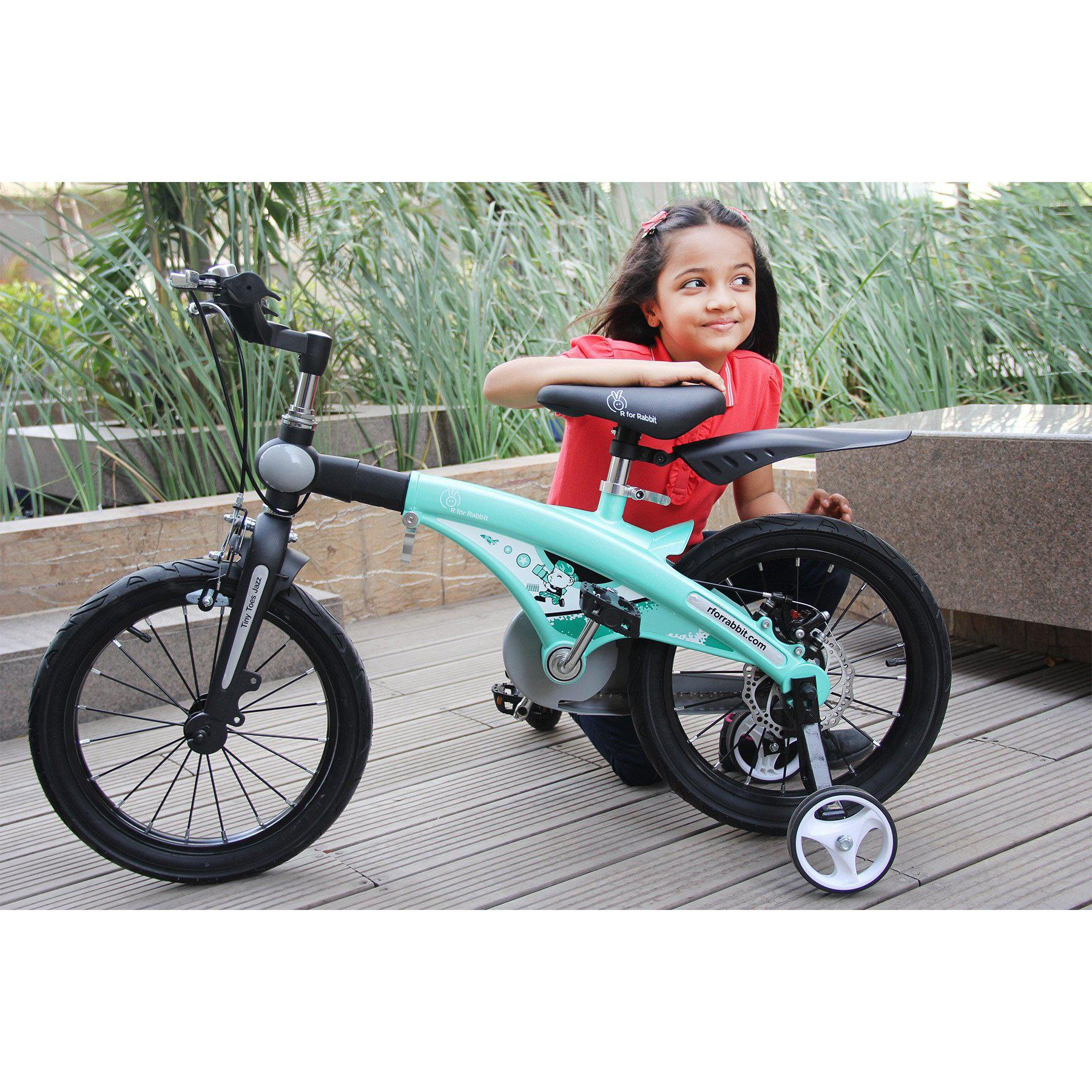 R for Rabbit Tiny Toes Jazz- The Smart Plug and Play Bicycle (16 inch/T - for 4-7 yrs)