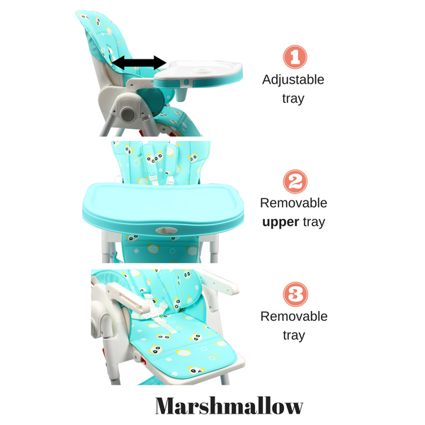 Marshmallow - The Smart High Chair , Baby High Chair - R for Rabbit, R for Rabbit - The Amazing Baby Company - 7