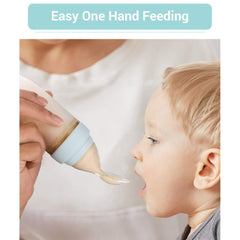 R for Rabbit First Feed Silicone Feeding Bottle Spoon for infant Baby 4 months Plus