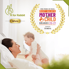 R for Rabbit First Feed 160 ml | 5 fl Oz Silicon Feeding Bottle for New Born Babies of 0 Month Plus