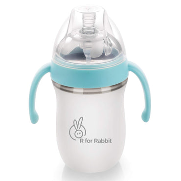 R for Rabbit First Feed 260 ml| 9 fl Oz Silicone Feeding Bottle for New Born Babies