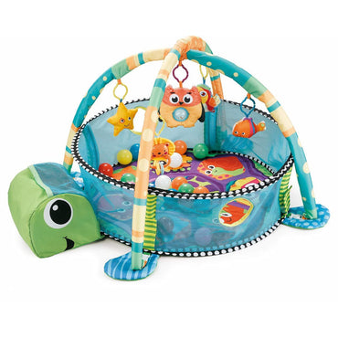 R for Rabbit First Play Turtle Face Play Gym for 2 Month Plus Babies