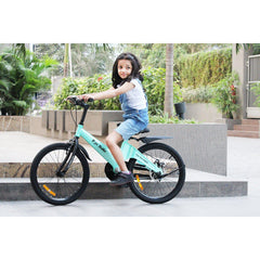 R for Rabbit Rapid Cycle for Kids - Smart Plug and Play Kids Bicycle -16 inch for 4 Years to 7 Years Baby (Lake Blue)
