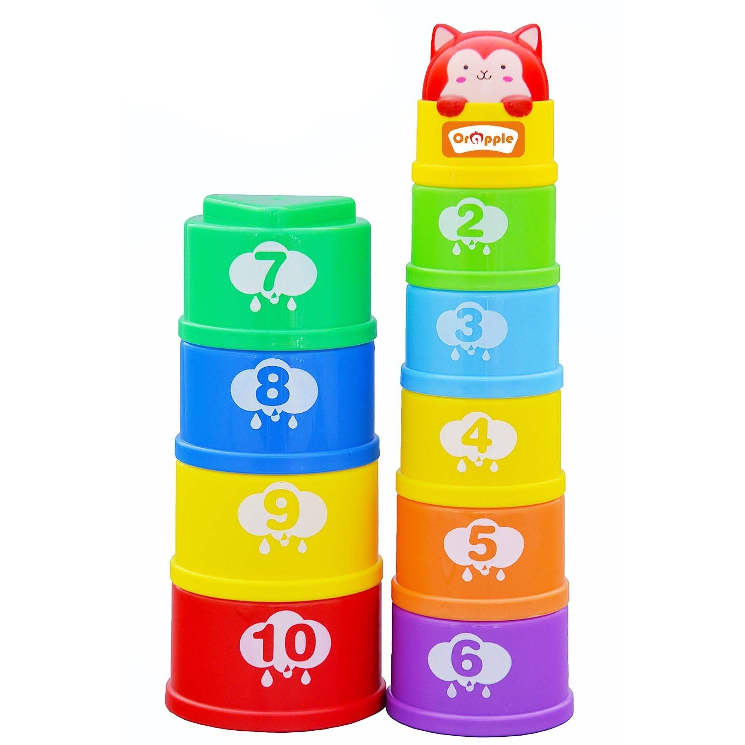 Orapple Toys Stack It Learning Cups with Music for Kids