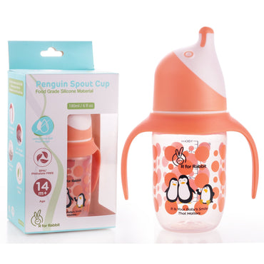 R for Rabbit Penguin Spout Sipper Bottle for Babies of 14 months Plus