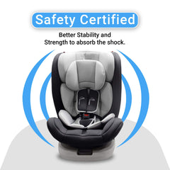 R for Rabbit Jack N Jill Grand ISOFIX Convertible Baby Car Seat for Kids of 0 to 12 Years Age (Grey)