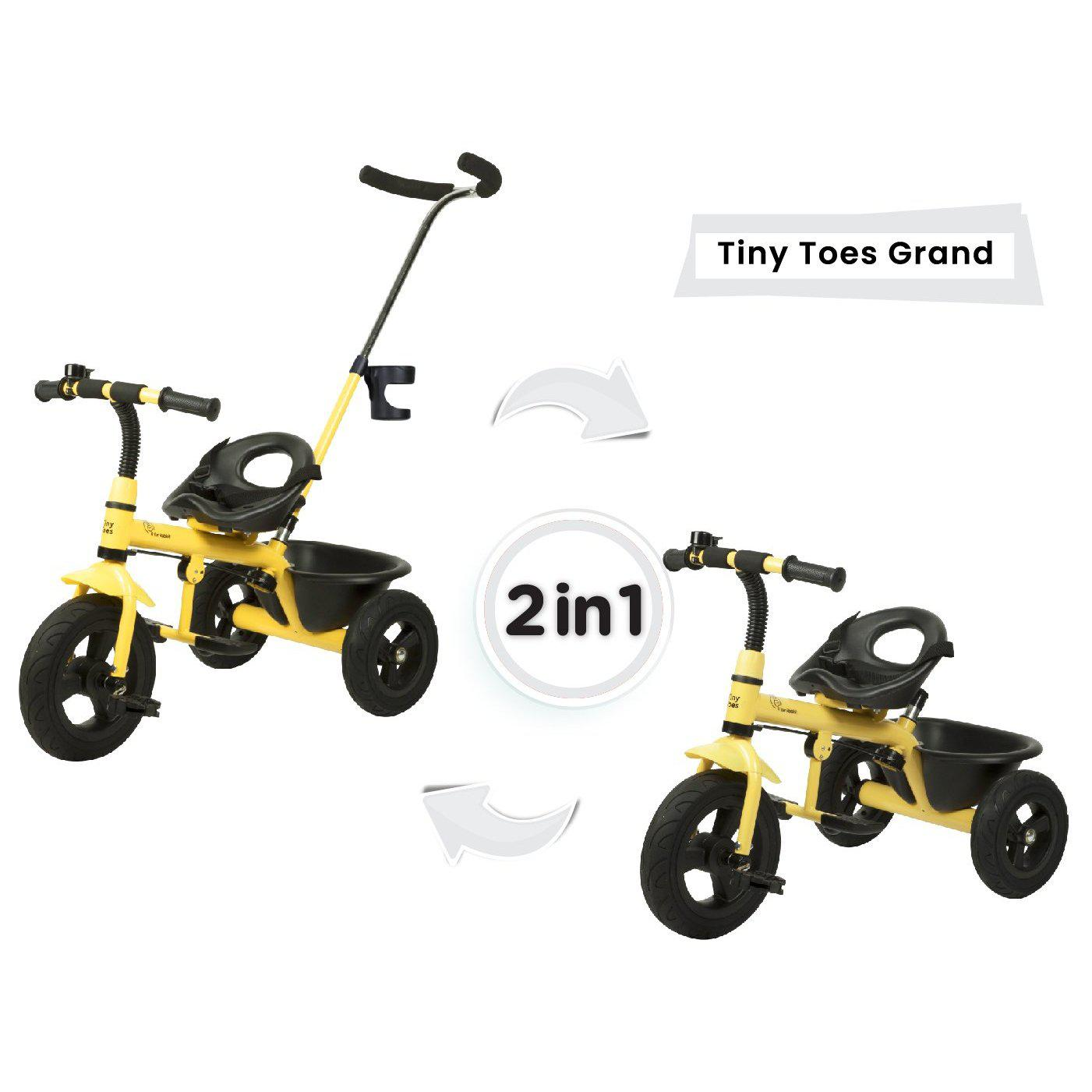 R for Rabbit Tiny Toes Grand Baby Tricycle for Kids with Parental Control for 1.5 to 5 Years Kids