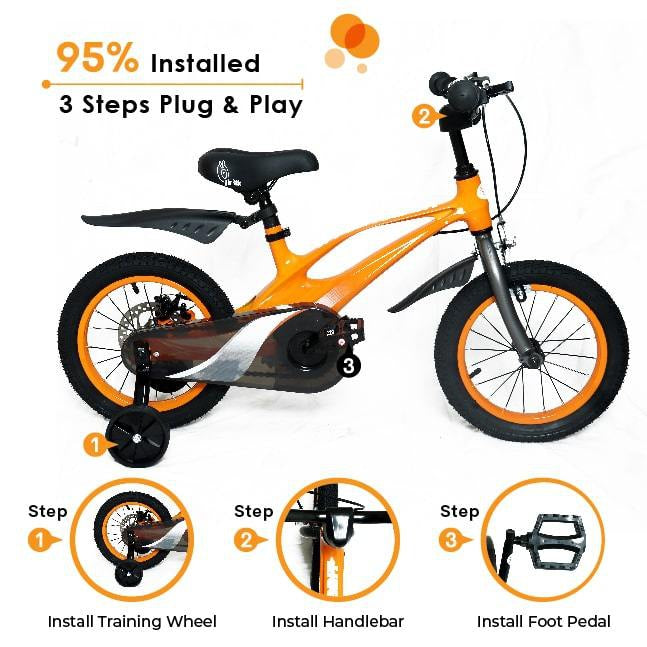 R for Rabbit Tiny Toes Swift 14 inch Bicycle for Kids of 3 to 5 years
