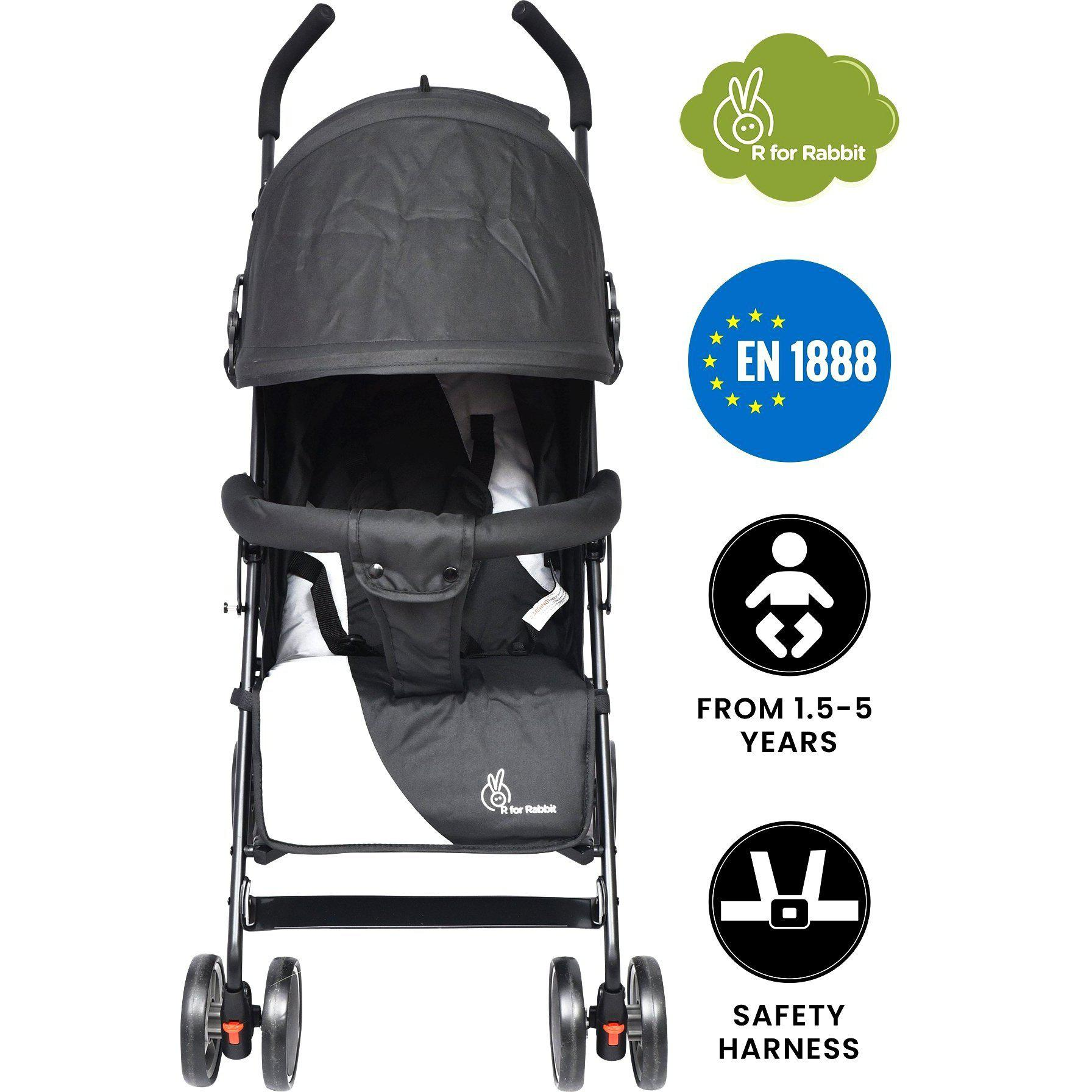R for Rabbit Twinkle Twinkle Compact Folding Baby Stroller and Pram for Kids of 0 to 3 years.