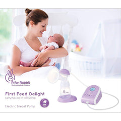 R for Rabbit First Feed Delight Electric Breast Pump - Most Safe and Comfortable Electric Breast Pump for Feeding Moms (Purple)