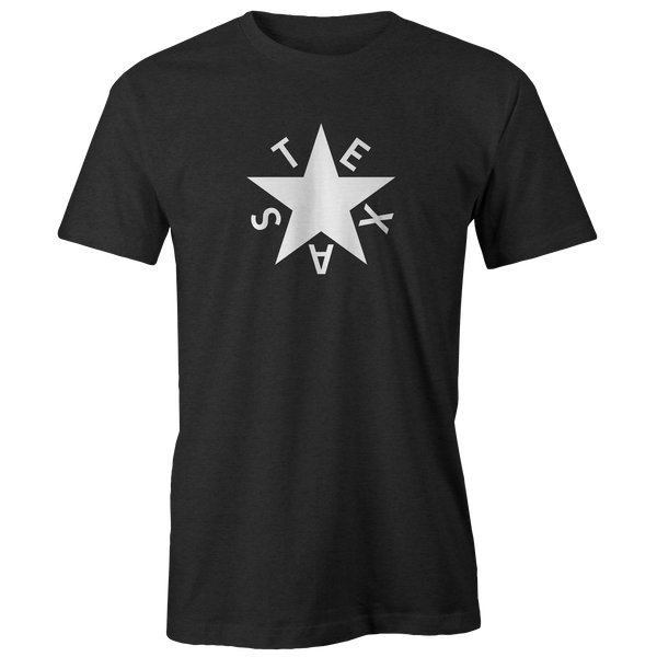 First Republic of Texas Flag Heathered Charcoal Tee