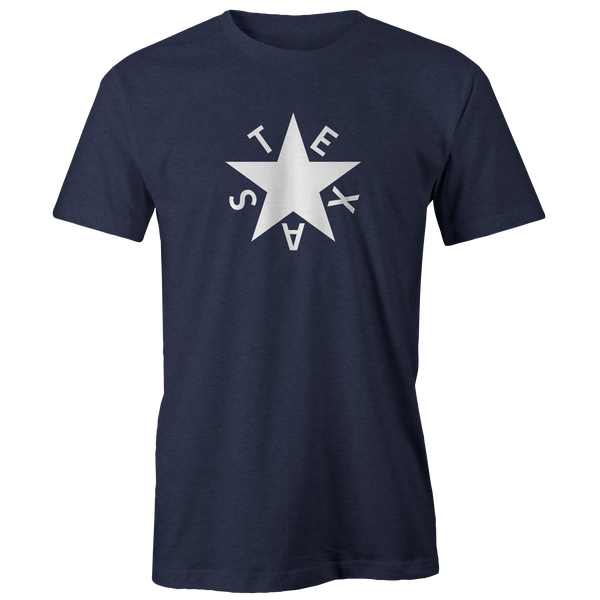 First Republic of Texas Flag Heathered Navy Tee
