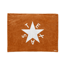 Burnt Orange 1st Republic of Texas Flag Stadium Blanket