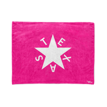 Fluorescent Pink 1st Republic of Texas Flag Stadium Blanket