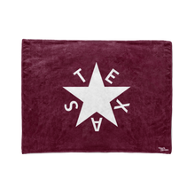 Maroon 1st Republic of Texas Flag Stadium Blanket
