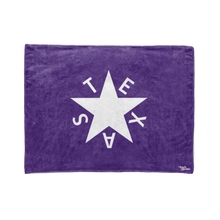 Purple 1st Republic of Texas Flag Stadium Blanket