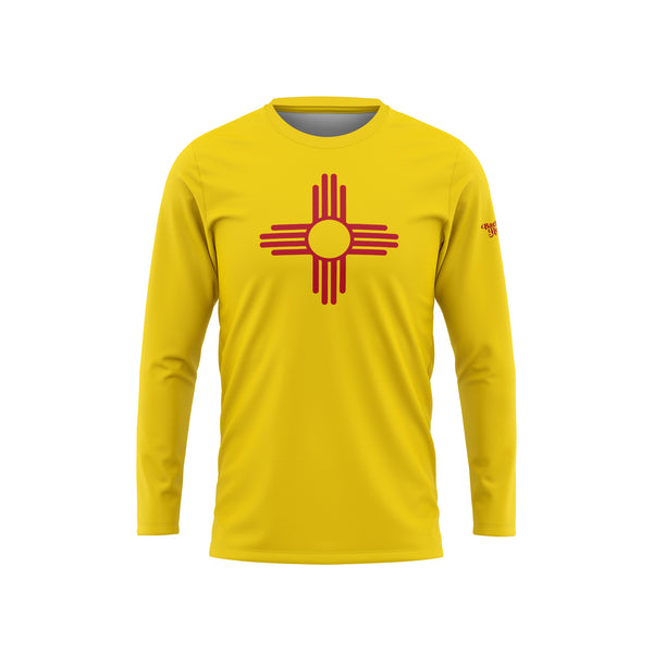 New Mexico Flag Long Sleeve Performance Shirt