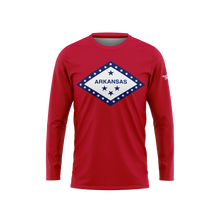 Arkansas Flag Long Sleeve Performance Shirt