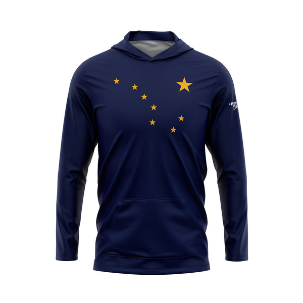Alaska Flag Performance Fleece Hoodie
