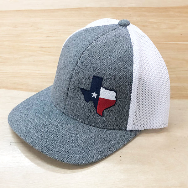 Texas Offset Masked Flag Flexfit Trucker Hat