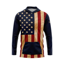 Aged US Flag Performance Fleece Hoodie
