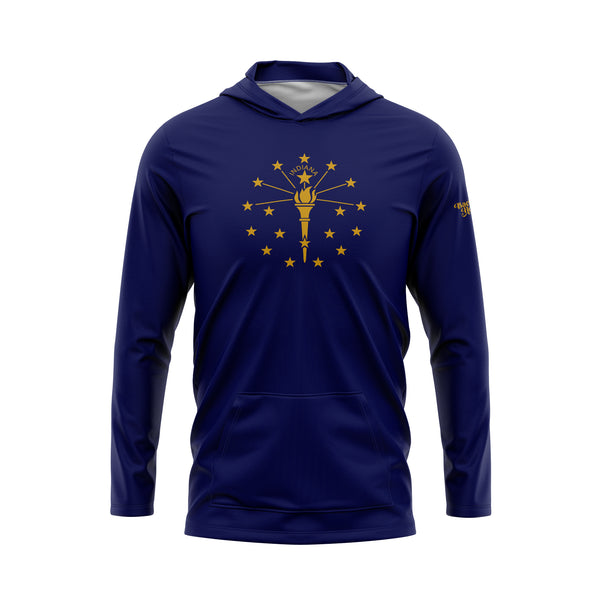 Indiana Flag Performance Fleece Hoodie