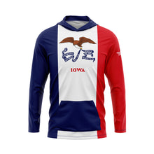 Iowa Flag Performance Fleece Hoodie