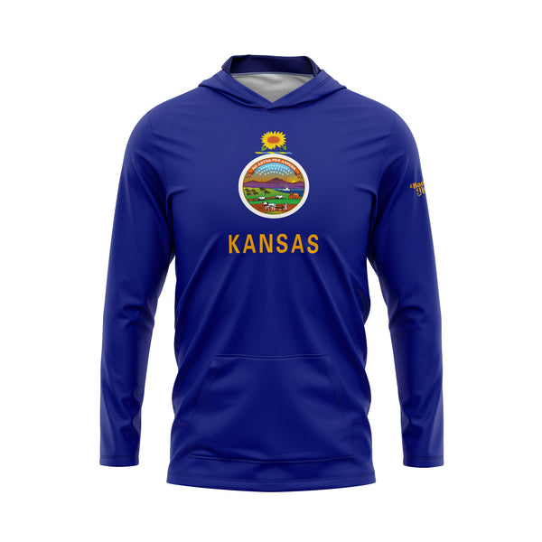 Kansas Flag Performance Fleece Hoodie