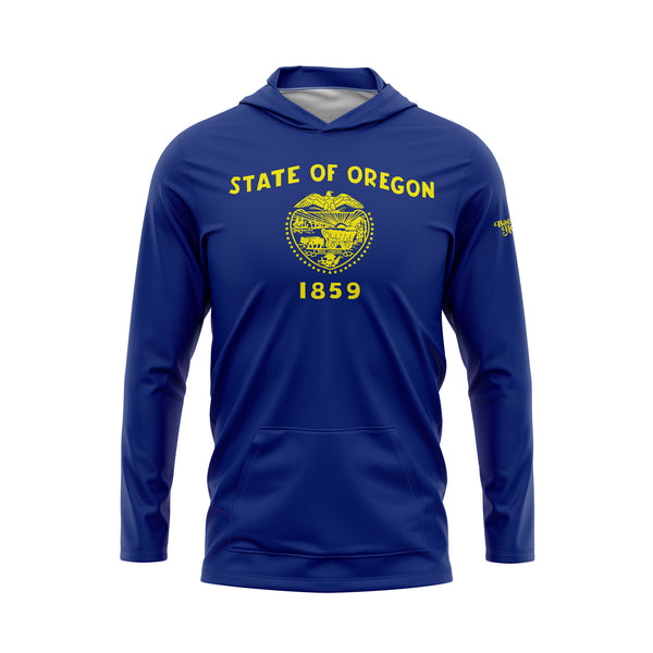 Oregon Flag Performance Fleece Hoodie