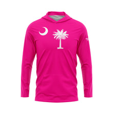 Fluorescent Pink South Carolina Flag Performance Hoodie