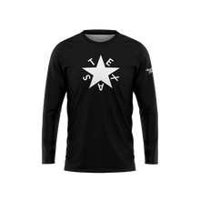 Black First Republic of Texas Flag Long Sleeve Performance Shirt