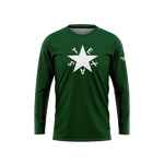 Green First Republic of Texas Flag Long Sleeve Performance Shirt