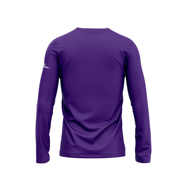 Purple First Republic of Texas Flag Long Sleeve Performance Shirt