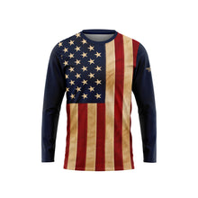Aged US Flag Long Sleeve Performance Shirt