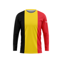 Belgium Flag Long Sleeve Performance Shirt