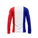 France Flag Long Sleeve Performance Shirt