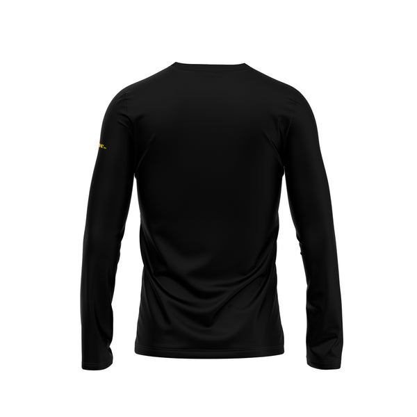 Black Don't Tread On Me Gadsden Snake Long Sleeve Performance Shirt