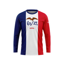 Iowa Flag Long Sleeve Performance Shirt