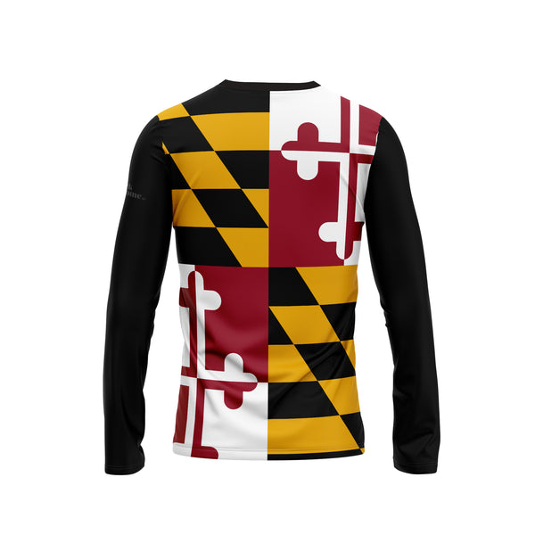Maryland Flag Long Sleeve Performance Shirt