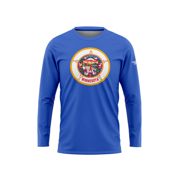 Minnesota Flag Long Sleeve Performance Shirt