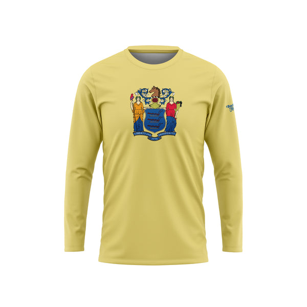 New Jersey Flag Long Sleeve Performance Shirt