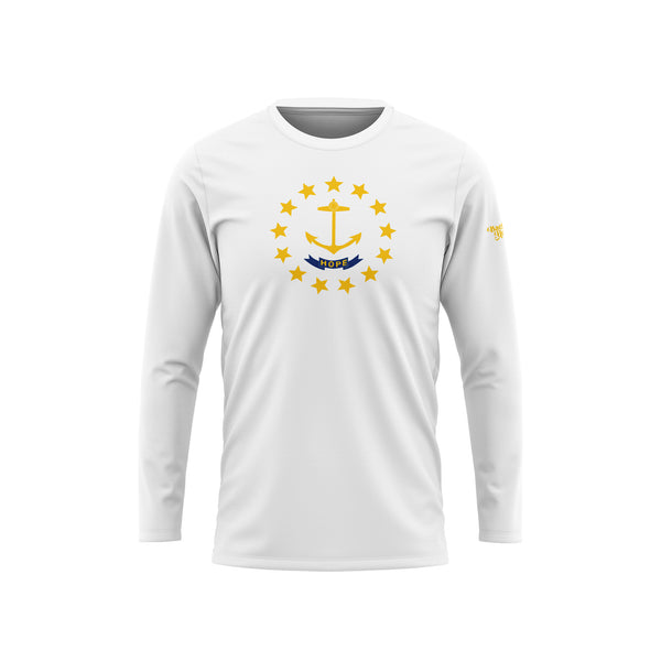 Rhode Island Flag Long Sleeve Performance Shirt
