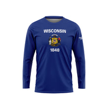 Wisconsin Flag Long Sleeve Performance Shirt