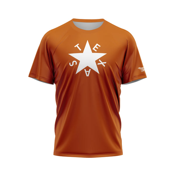 Burnt Orange First Republic of Texas Flag Performance Shirt