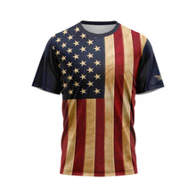 Aged US Flag Performance Shirt