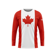 Canada Flag Long Sleeve Performance Shirt