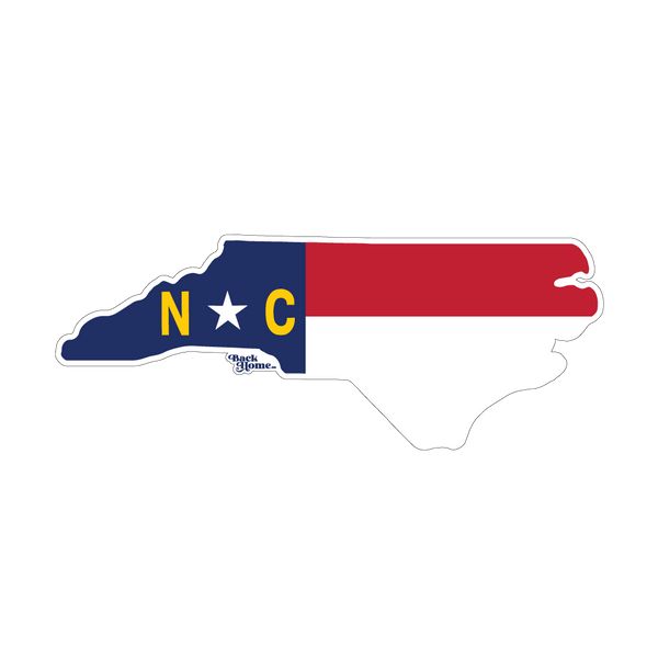 North Carolina Masked Flag Sticker Decal