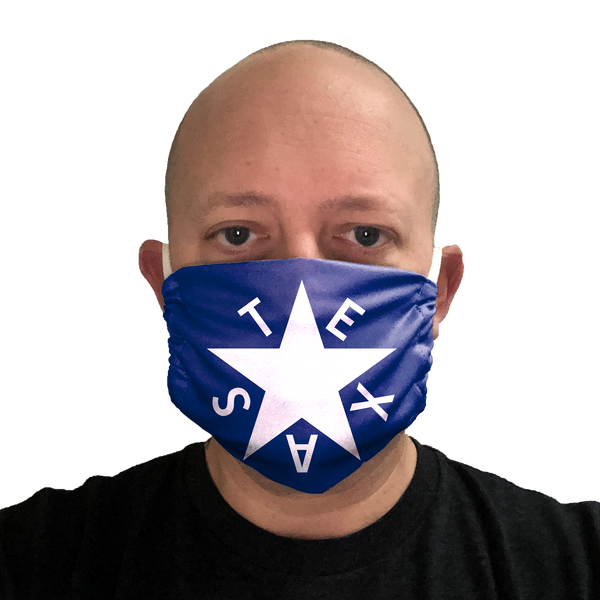 1st Republic of Texas Flag Face Mask